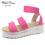 ADDIE-02 WHOLESALE WOMEN'S FLATFORM SANDALS