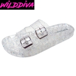 AMAR-01 WHOLESALE WOMEN'S JELLY FOOTBED SANDALS