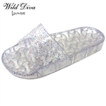AMAR-03 WHOLESALE WOMEN'S JELLY FOOTBED SANDALS