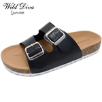 AUDRINA-06 WHOLESALE WOMEN'S FASHION FOOTBED SANDALS ***VERY LOW STOCK
