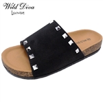 AUDRINA-08 WHOLESALE WOMEN'S FASHION FOOTBED SANDALS