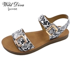 POLABUR-35 WHOLESALE WOMEN'S FOOT-BED SANDALS ***LOW STOCK