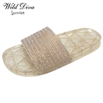 SAL-06 WHOLESALE WOMEN'S JELLY FOOTBED SANDALS