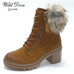 UNO-01 WHOLESALE WOMEN'S LUG SOLE BOOTS *GENUINE SUEDE ***LOW STOCK